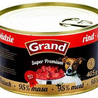 GRAND konz.  Superpremium pes hovězí 405g