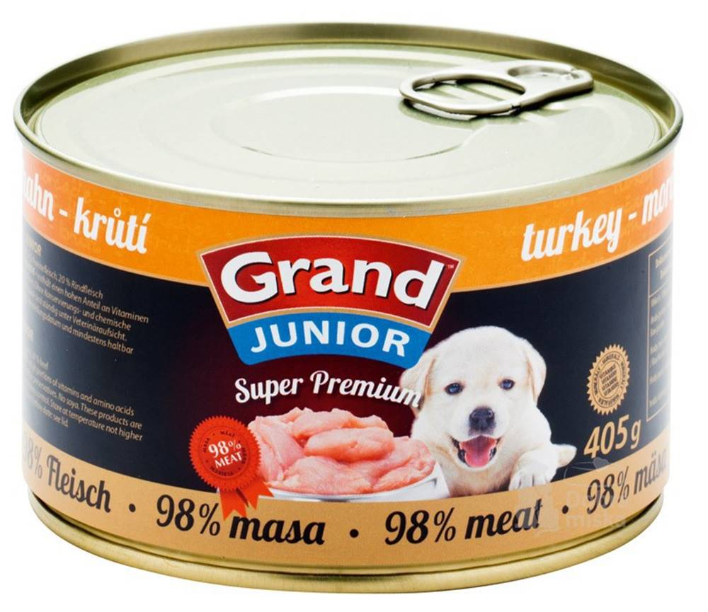 Grand GRAND konz.  Superpremium Junior pes krůtí 405g