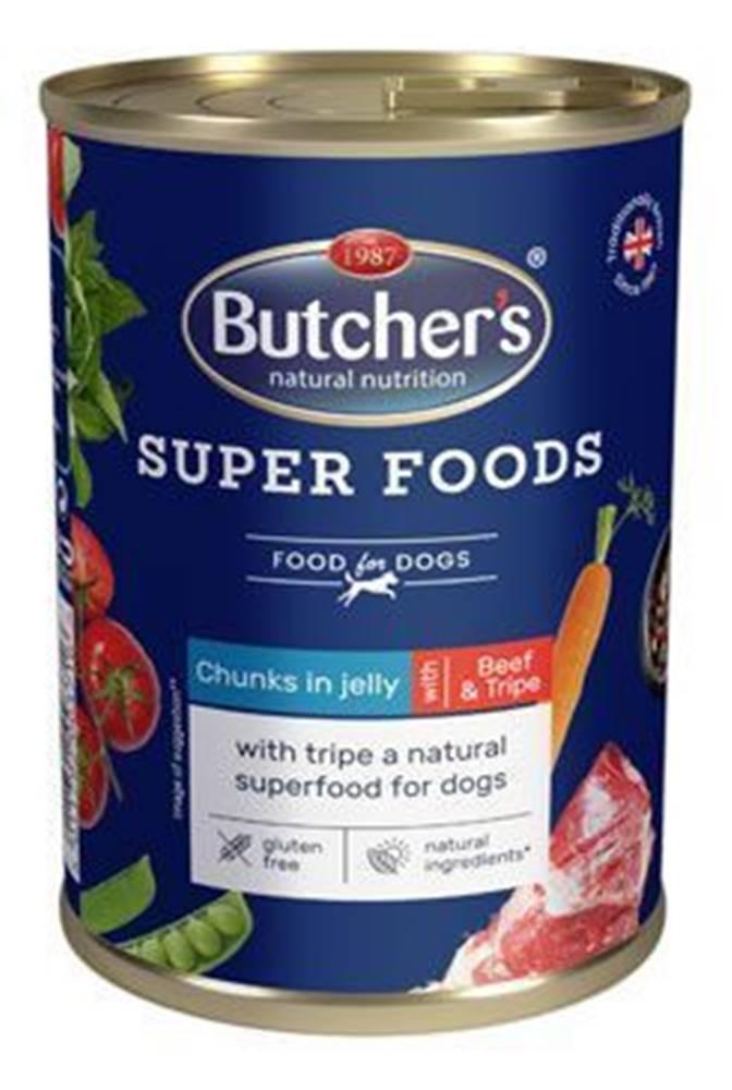 Butcher's Butcher 's Dog Superfood držky a hovädzie konz. 400g