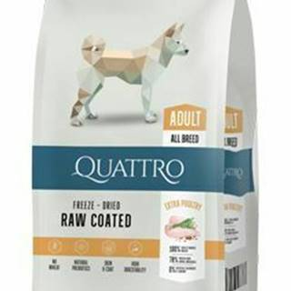 QUATTRO Dog Dry Premium All Breed Adult Hydina 12kg
