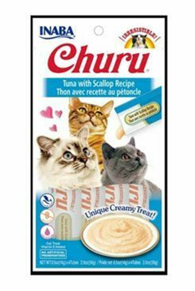 Ostatní Churu Cat Tuna with Scallop 4x14g