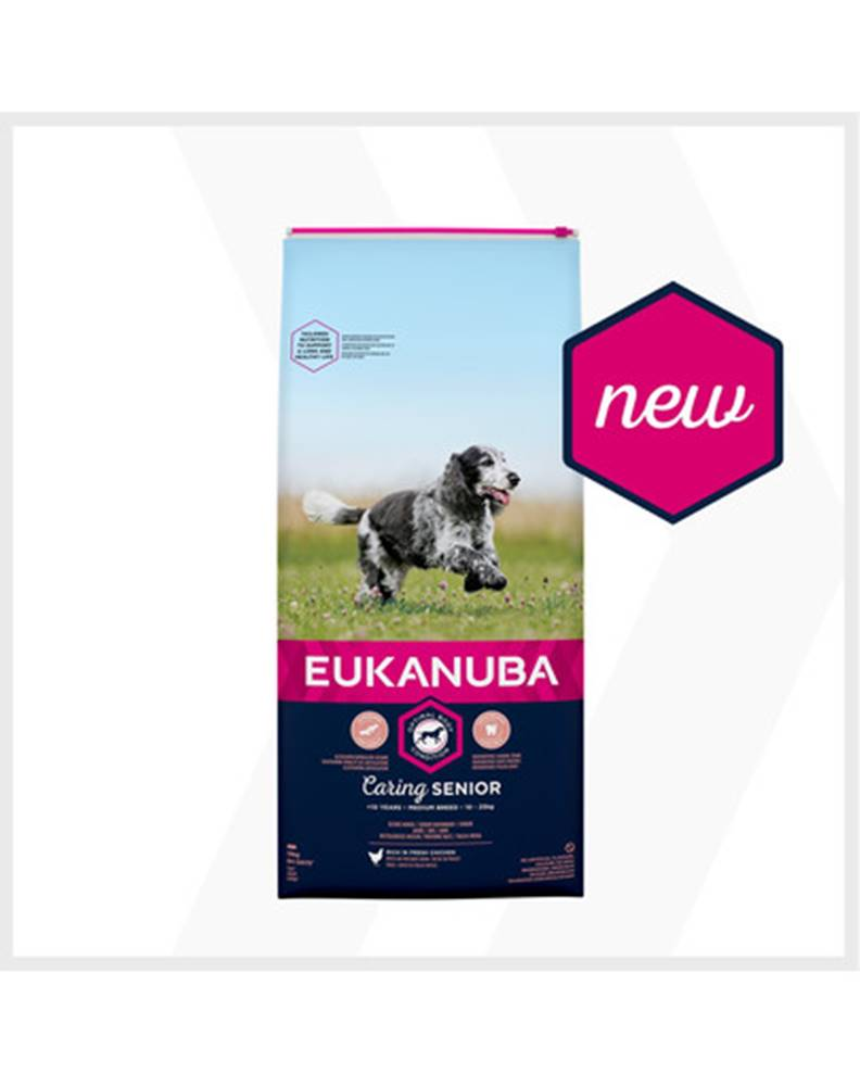 fera EUKANUBA Caring Senior Medium Breed 2 x 15kg kuracie granule