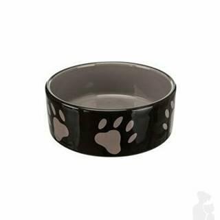 Miska keramická pes Hnedá / tm.šedá s labka 0,3l 12cm