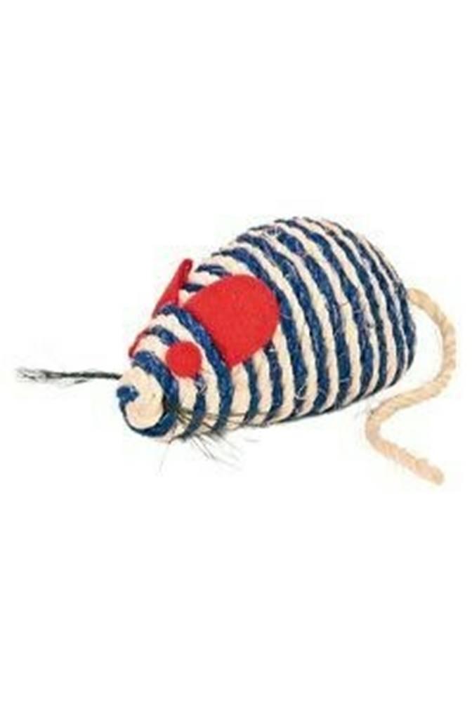 Trixie Hračka mačka Myš sisal s guličkami 10cm TR 1ks