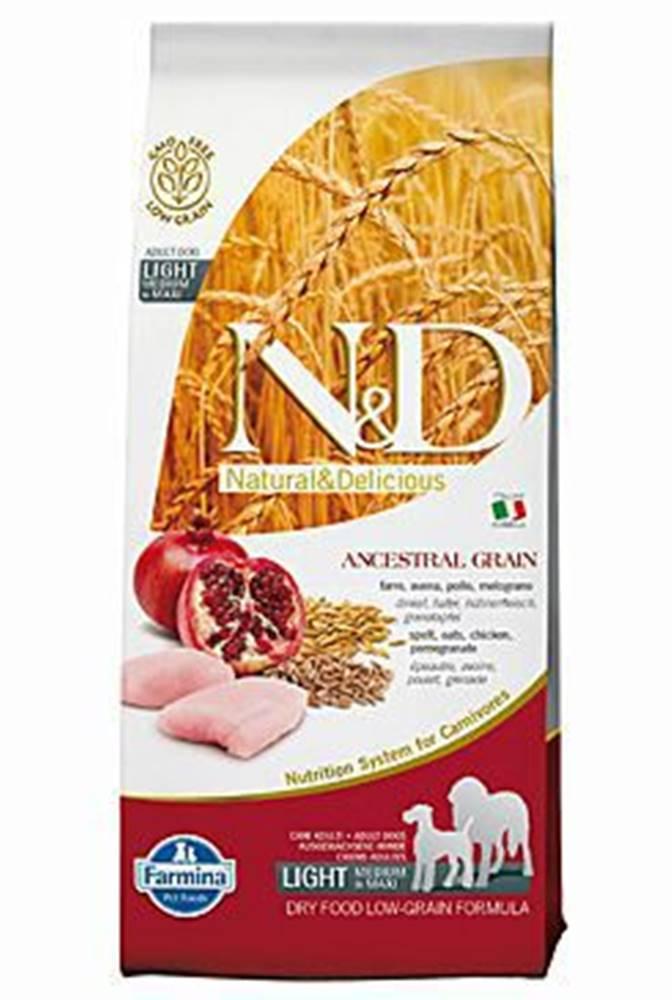N&D N&D Low Grain DOG Light Medium&Maxi Chicken&Pomeg 12kg