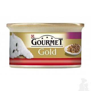 Gourmet Gold konz. kočka duš.hov.a kuře 85g