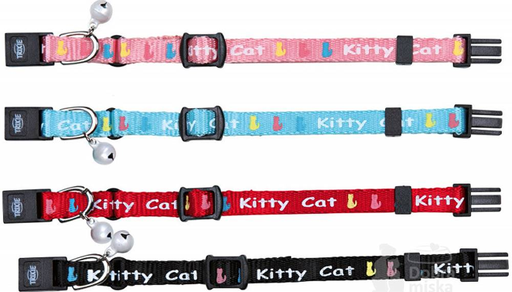 Trixie Obojek kočka nylon Kitty Cat  20cm  Mix TR