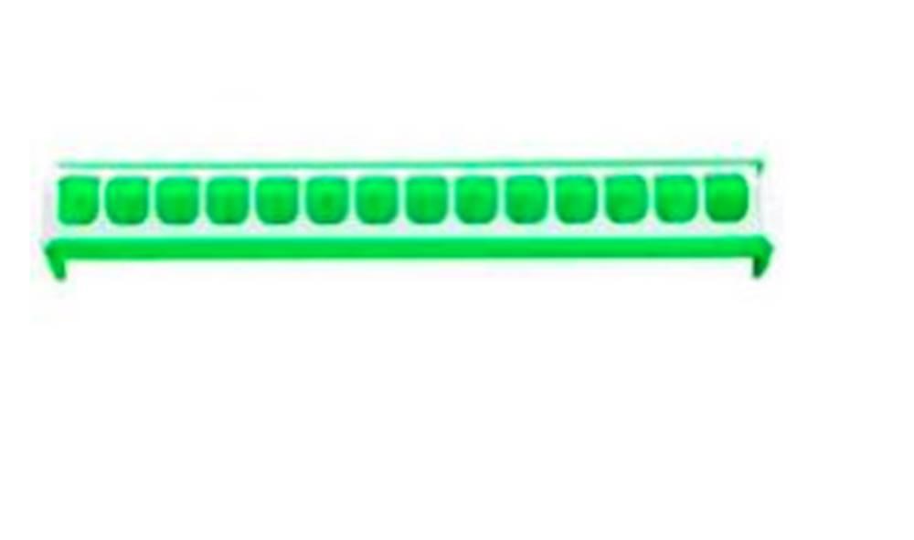 Ostatní Krmítko pro slepice žlabové 50cm zelené, plast
