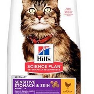 Hill's Fel. Dry Adult Sensit.Stomach&Skin Chicken 300g