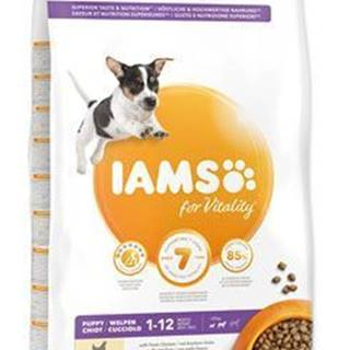 Iams Dog Puppy Small&Medium Chicken 12kg