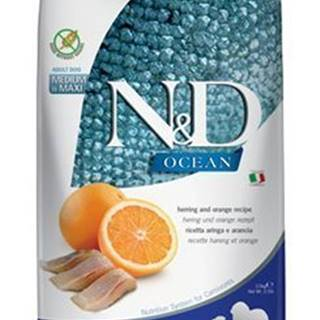 N&D OCEAN DOG GF Adult M/L Herring & Orange 2,5kg
