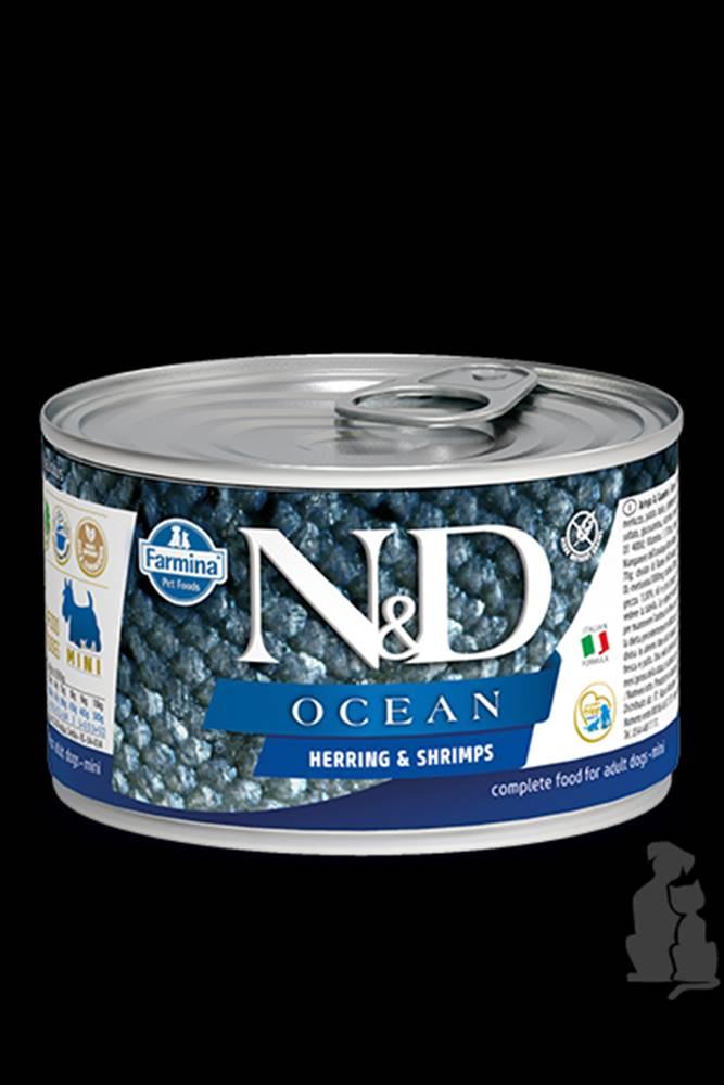 N&D (Farmina Pet Foods) N&D DOG OCEAN Adult Herring & Shrimps Mini 140g