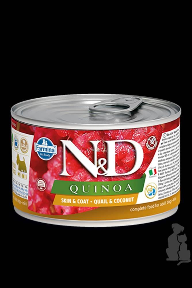 N&D (Farmina Pet Foods) N&D DOG QUINOA Quail & Coconut Mini 140g