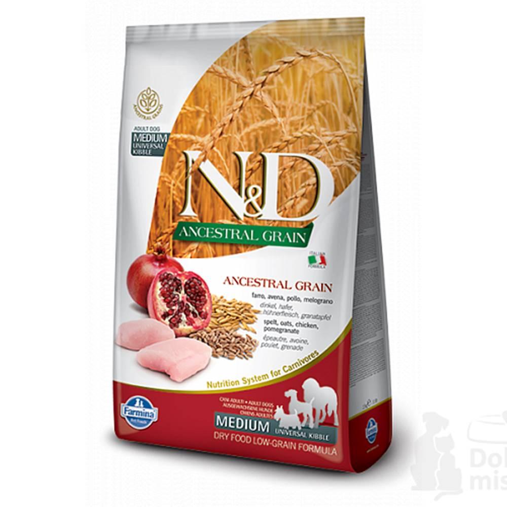 N&D N&D LG DOG Adult M/L Chicken & Pomegranate 2,5kg