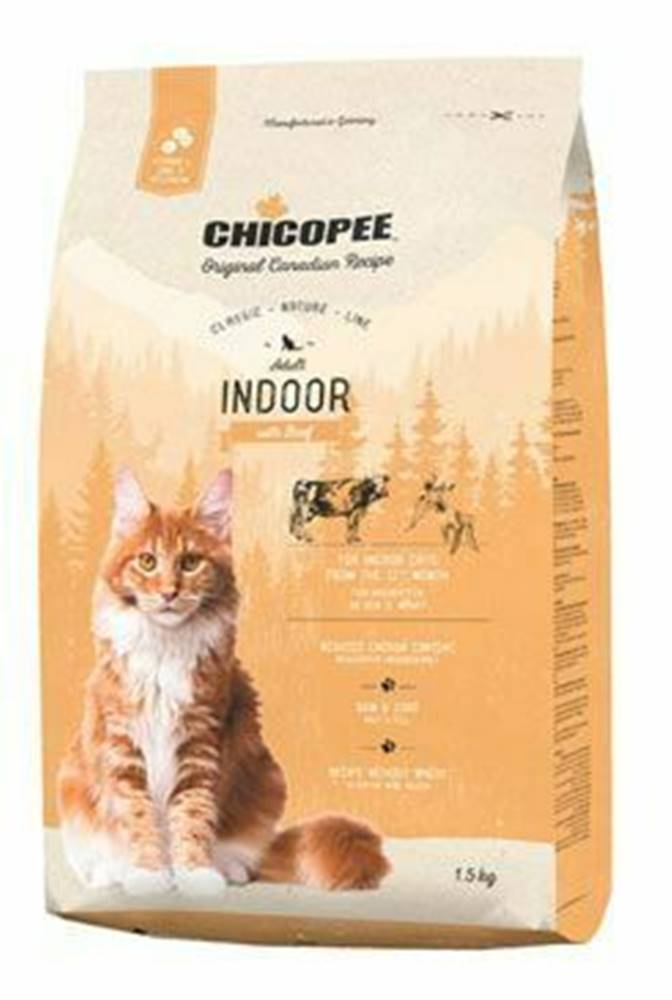 CHICOPEE Chicopee Cat Adult Indoor Beef 1,5kg