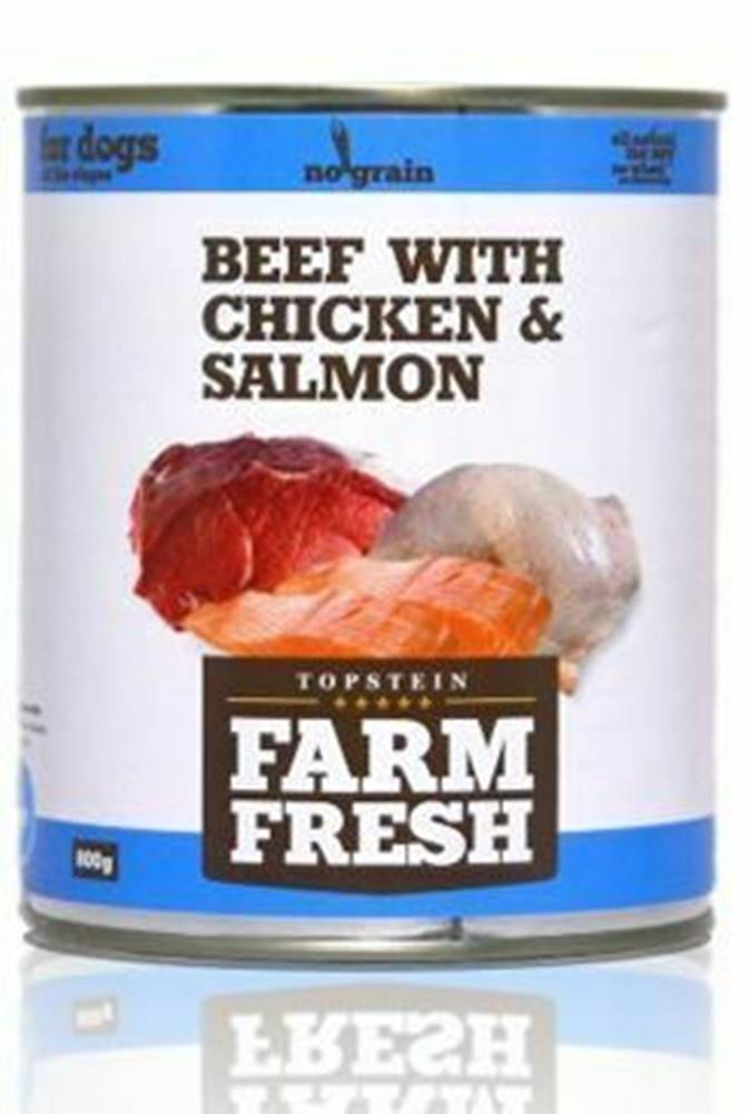 Farm Fresh Farm Fresh Dog Beef with Chicken&Salmon konzerva 800g