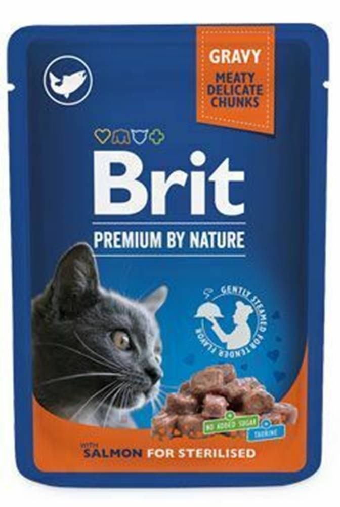 Brit Premium Brit Premium Cat vrecko Salmon for Sterilised 100g