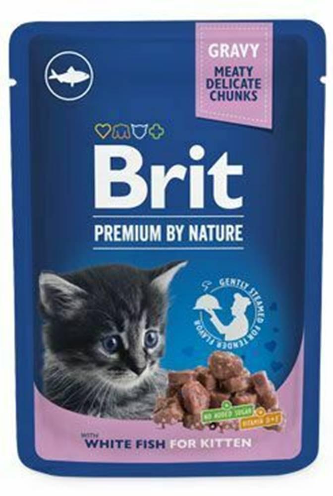 Brit Premium Brit Premium Cat vrecko White Fish for Kitten 100g