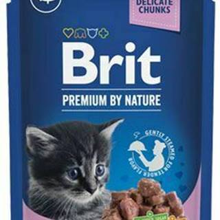 Brit Premium Cat vrecko White Fish for Kitten 100g