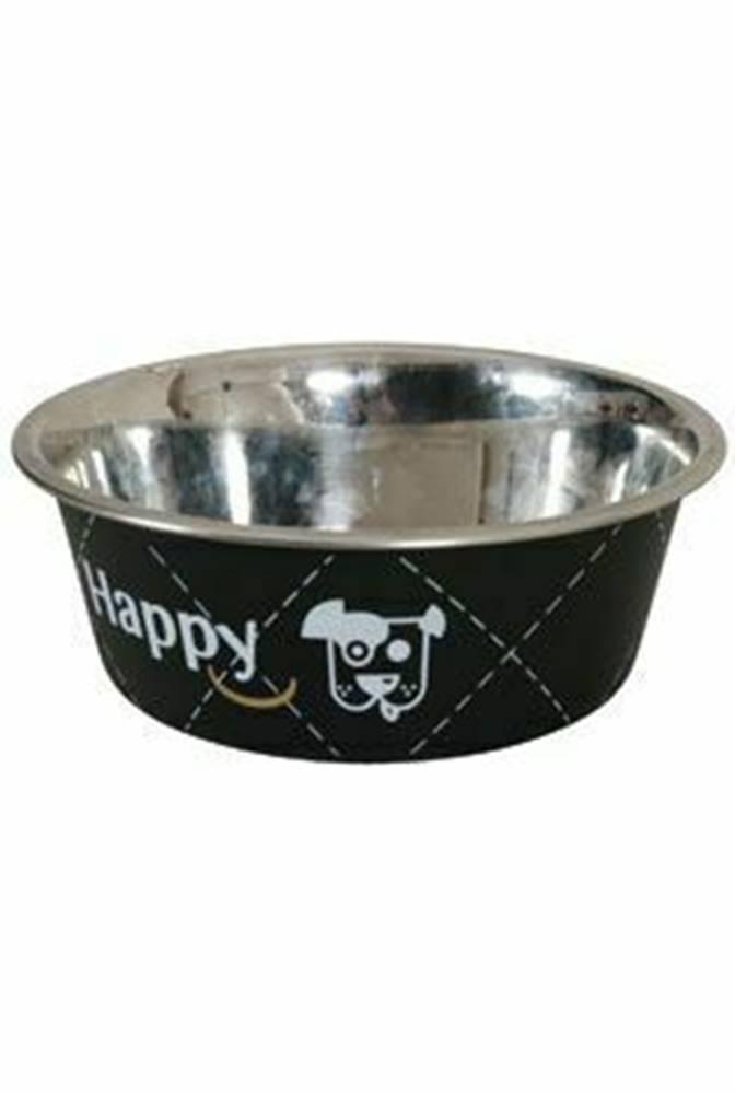 Zolux Miska nerez protisklz pes HAPPY25cm 2,65l čierna Zolux