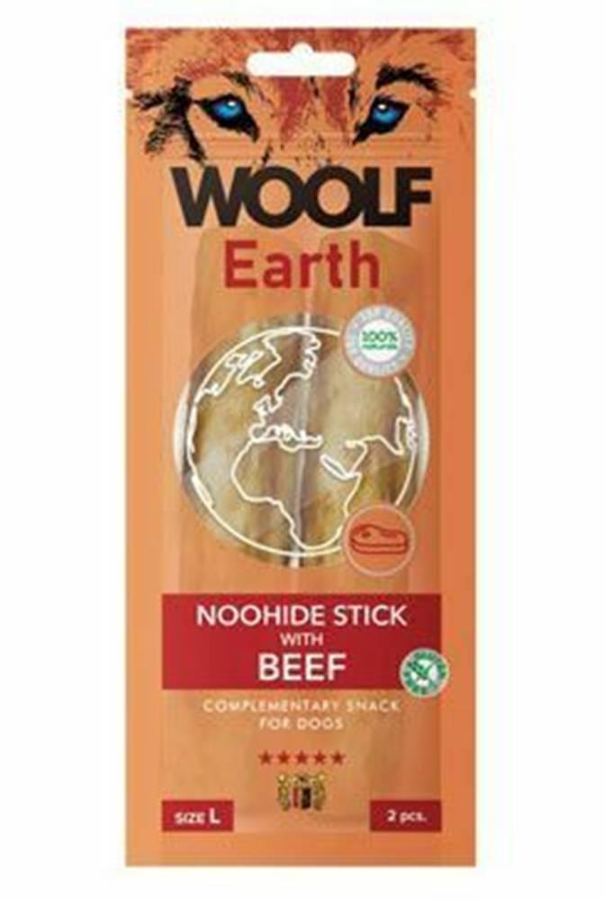 Woolf Woolf pochúťka Earth NOOHIDE L Sticks with Beef 85g