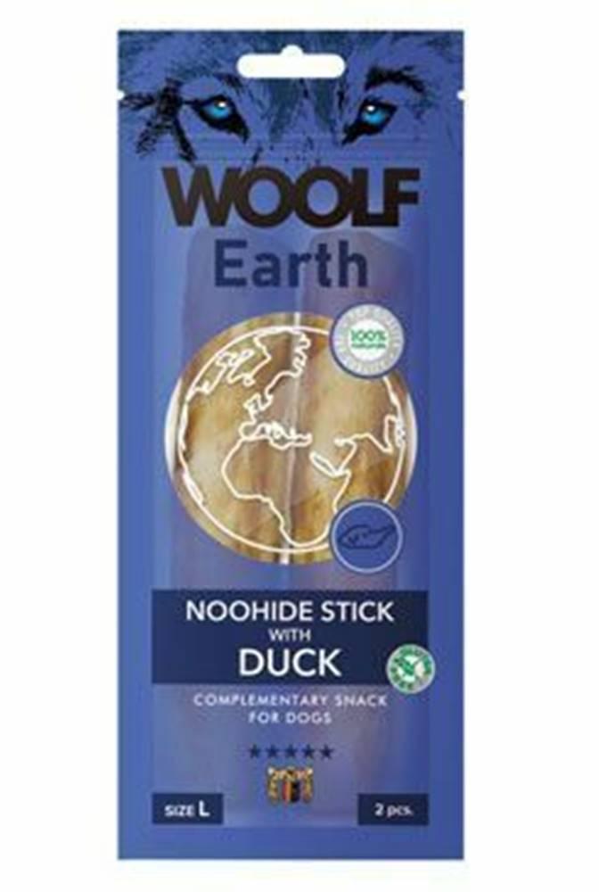 Woolf Woolf pochúťka Earth NOOHIDE L Sticks with Duck 85g