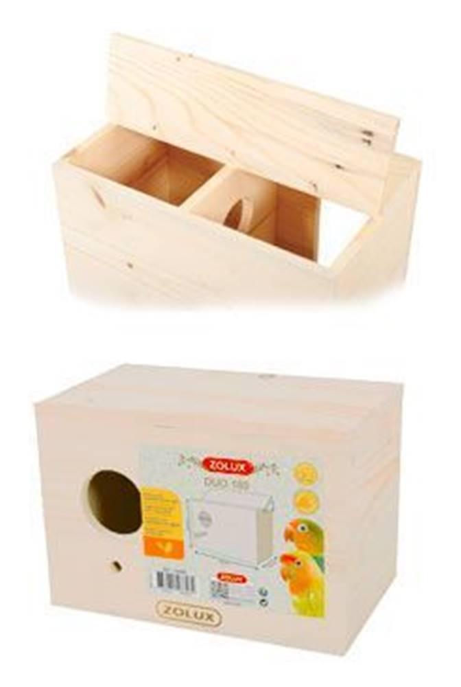 Zolux Budka hniezdiace do klietky vták Duo 230x140x160mm Zolux