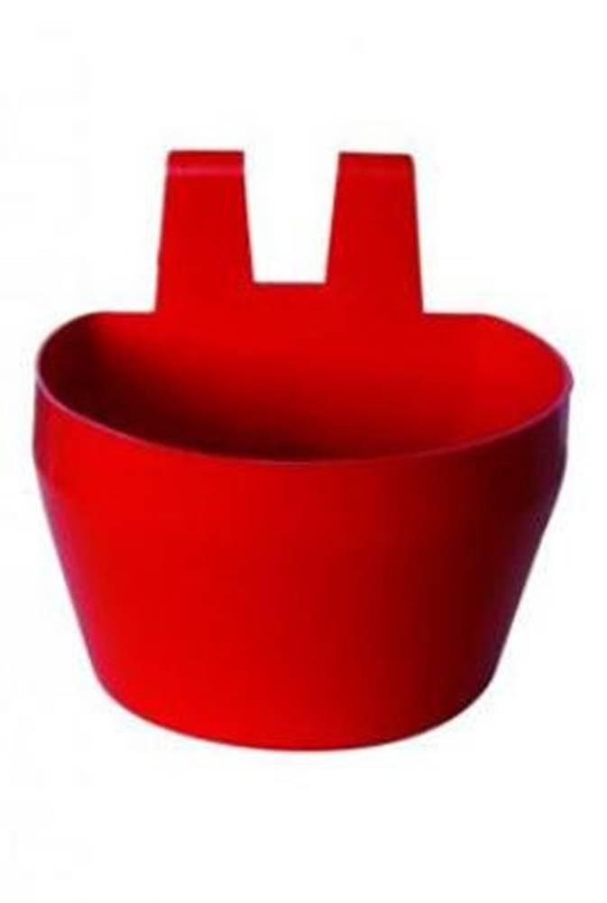 Ostatní Miska na krmivo KRÁLIK, závesná 300ml plast, červená 2ks