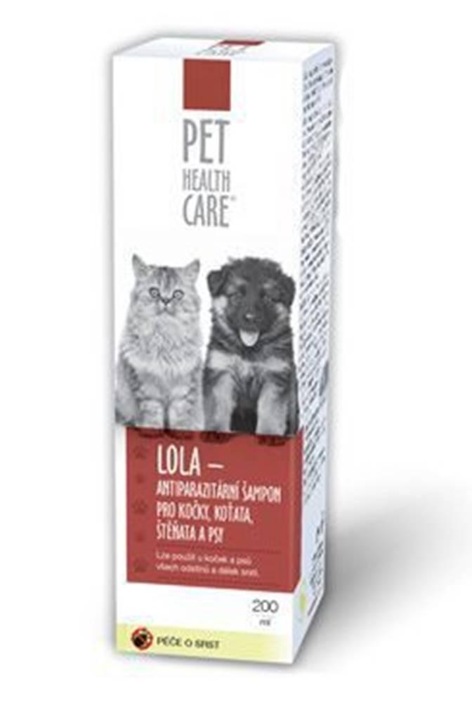 PET HEALTH CARE Šampón LOLA antiparazit. pre psov a mačky 200ml PHC