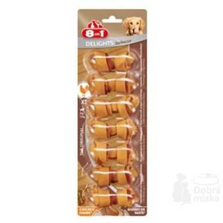 8in1 Kosti žvýkací Delights barbecue XS 7ks