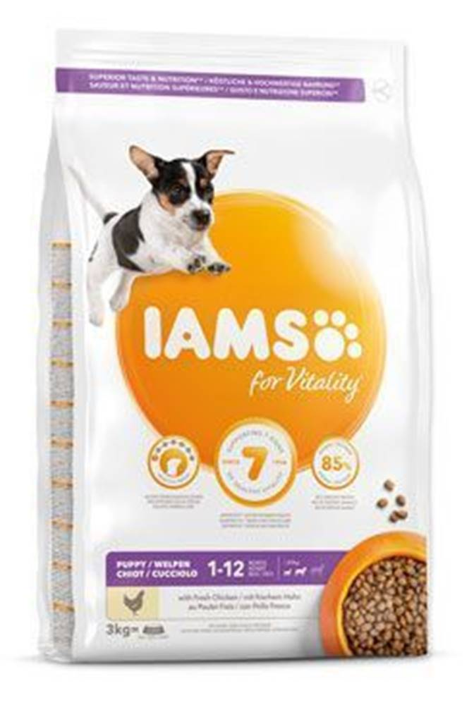 Iams Iams Dog Puppy Small&Medium Chicken 3kg