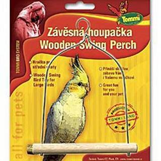 Houpačka střední pro ptáky dřevo - kov