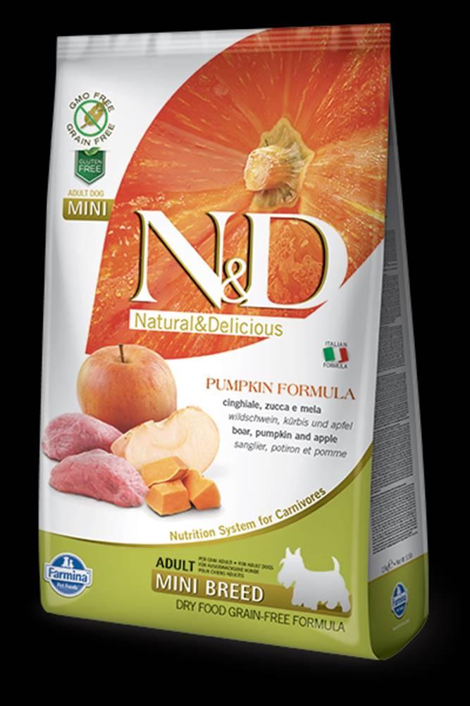 N&D N&D GF Pumpkin DOG Adult Mini Boar & Apple 7kg