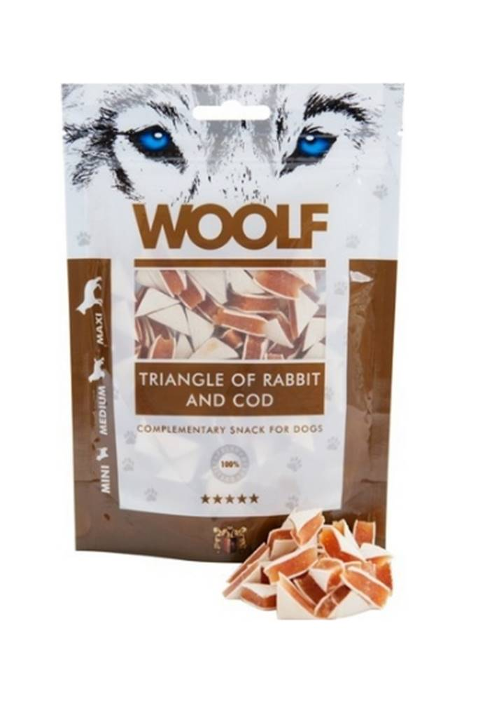 Woolf WOOLF pochoutka Rabbit and Cod Triangle