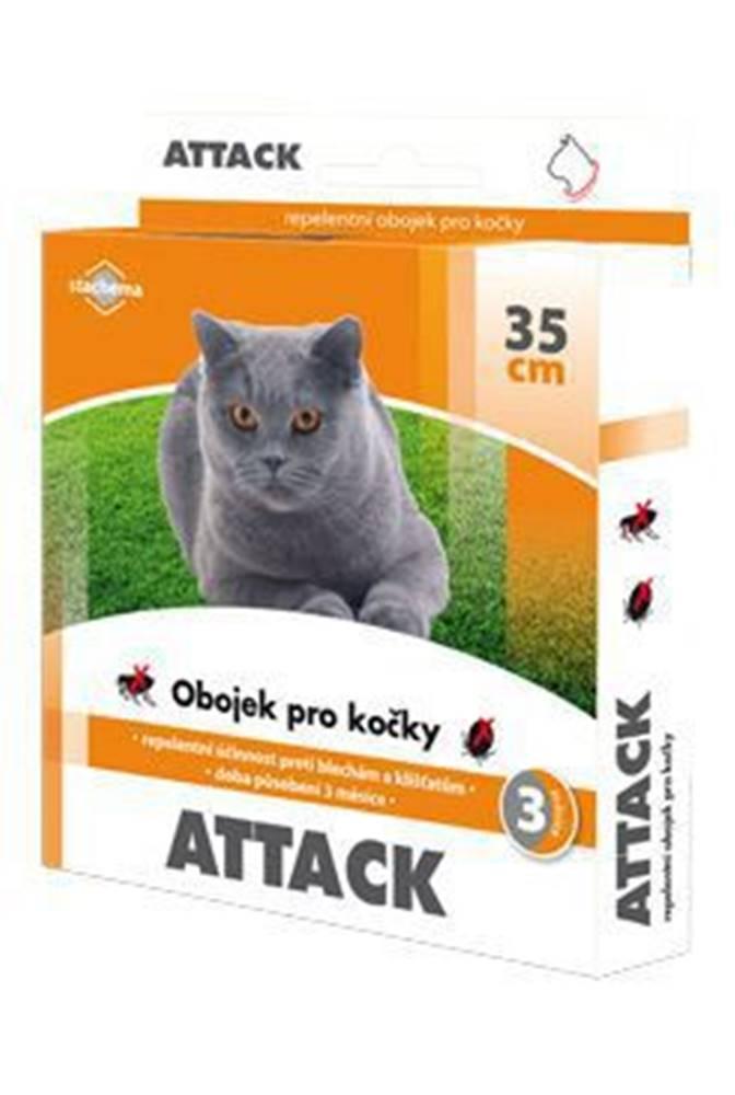 Stachema CZ s.r.o. Attack obojek antiparazitární 35cm kočka