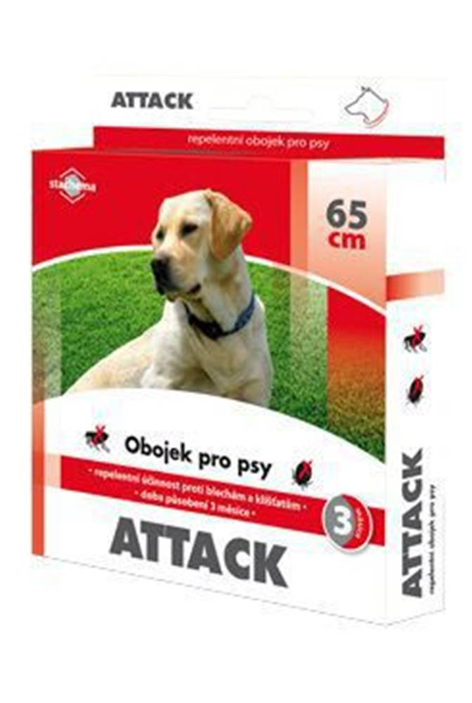 Stachema CZ s.r.o. Attack obojek antiparazitární 65cm pes