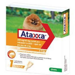 Ataxxa Spot-on Dog S 200mg/40mg 1x0,4ml
