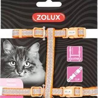 Postroj mačka SHINY nylon oranžový Zolux