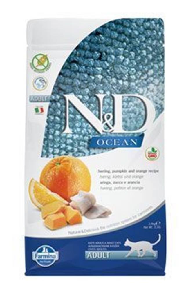 N&D (Farmina Pet Foods) N&D OCEAN CAT GF Adult Herring, Pumpkin & Orange 1,5kg