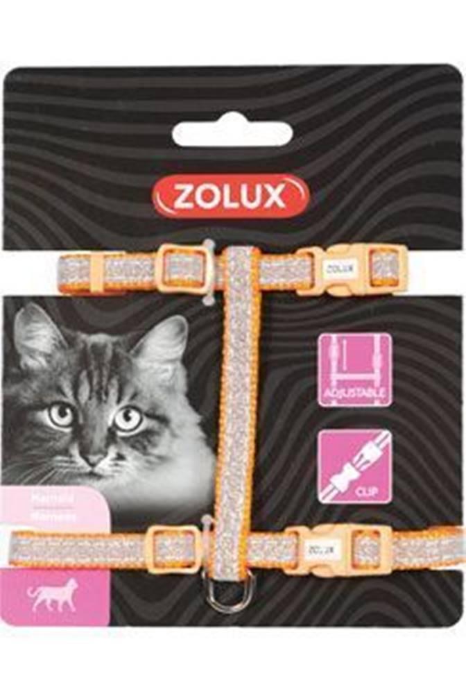 Zolux Postroj mačka SHINY nylon oranžový Zolux