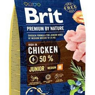 Brit Premium Dog by Nature Junior M 3kg