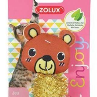 Hračka mačka LOVELY s santa medveď Zolux