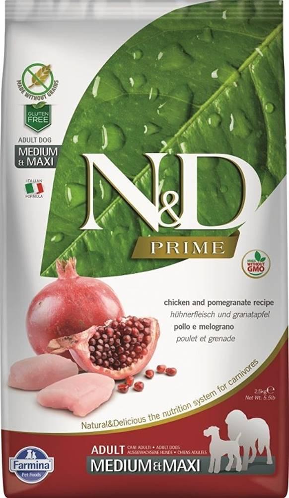 N&D (Farmina Pet Foods) N&D PRIME DOG Adult M/L Chicken & Pomegranate 12kg