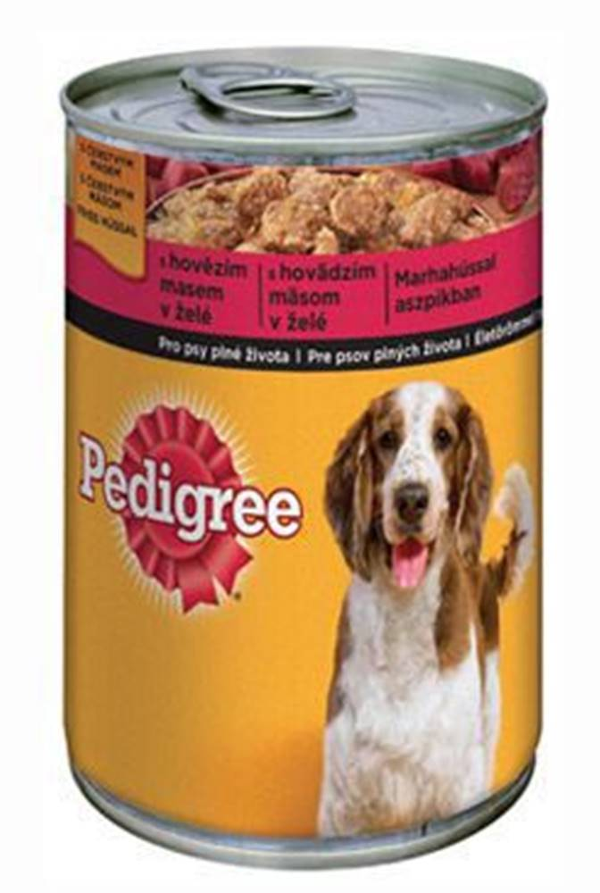 Pedigree Pedigree konzerva Adult hovädzie v želé 400g