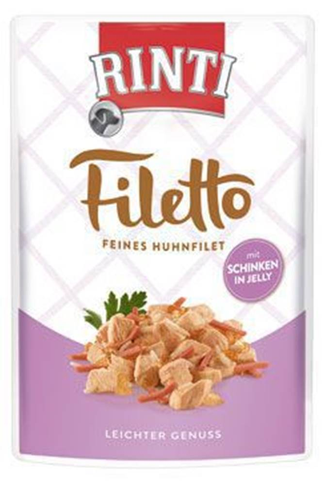 Rinti Rinti Dog kapsa Filetto kuře+šunka v želé 100g