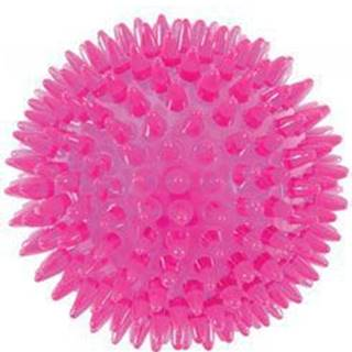 Hračka pes BALL TPR POP 13cm s ostny růžová Zolux