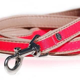 Vodítko kožené Růžové neon 120cm/1,5cm 1ks M&P