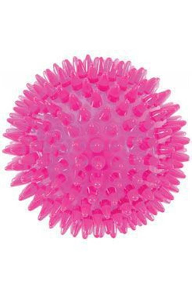 Zolux Hračka pes BALL TPR POP 13cm s ostny růžová Zolux