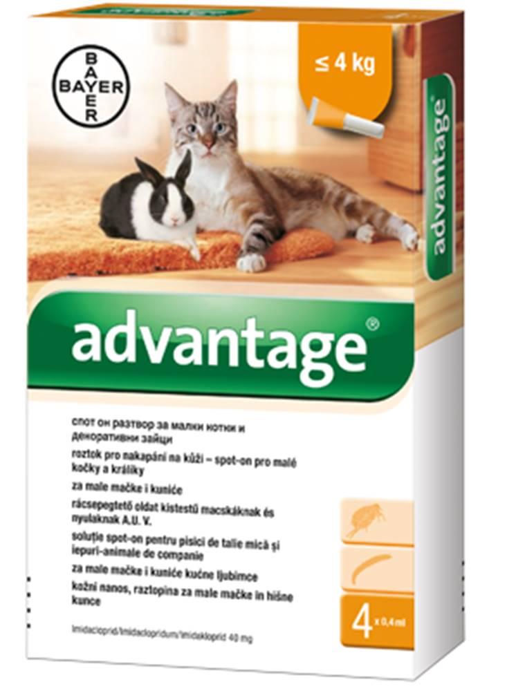 Bayer Advantage 40 10% 1x0,4ml pro kočky do 4kg
