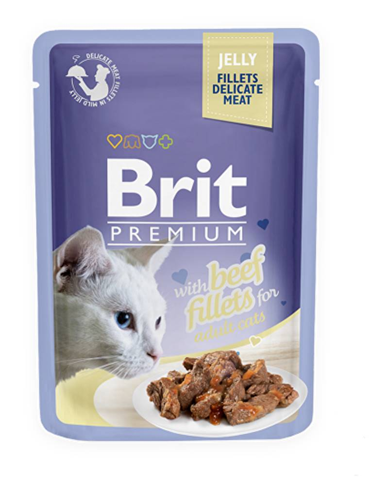 Brit Brit Premium Cat D Fillets in Jelly with Beef 85g